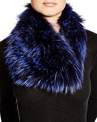 Badgley Mischka Fox Fur Infinity Scarf Midnight