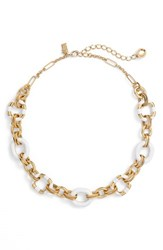 Women's Kate Spade New York 'Mod Moment' Link Necklace White