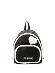 Love Moschino Faux Shearling Trim Backpack 60
