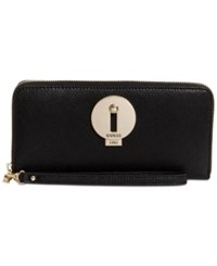 Guess Augustina Boxed Zip Around Wallet A Macy's Exclusive Style Black