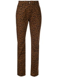 Loveless Leopard Print Trousers Brown