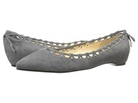 Ivanka Trump Coper Gray Suede Women's Dress Flat Shoes