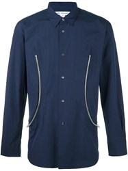 Comme Des Garcons Shirt Front Zipper Shirt Blue