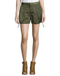 Moncler Nylon Drawstring Cargo Shorts Military Size 40 Mltry