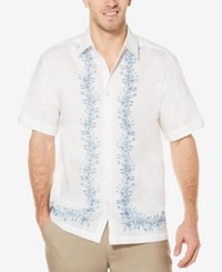 Cubavera Men's Foliage Print Shirt Bright White