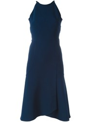 Roland Mouret Cut Out Detail Dress Blue