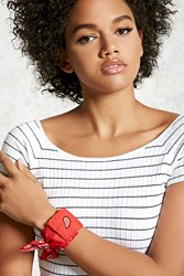 Forever 21 Bandana Wrap Bracelet Red Black