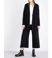 Izzue Layered Detail Knitted Cardigan Black