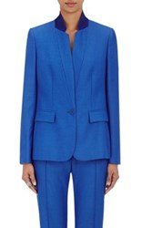 Stella Mccartney Women's Fleur Wool Single Button Jacket Blue