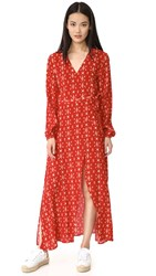 The Fifth Label Return To Paradise Long Sleeve Dress Dark Tapestry Print