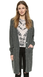 Anine Bing Sweater Coat Grey