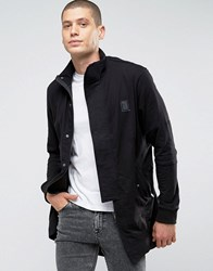 Religion Jersey Parka With Panel Sleeves And Fishtail Black