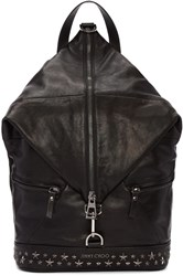 Jimmy Choo Black Star Fitzroy Backpack