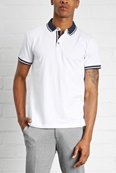 Forever 21 Stripe Trim Polo