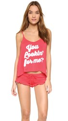 Wildfox Couture You Lookin' For Me' Cami Sleep Set Vintage Valentine White