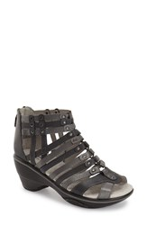 Women's Jambu 'Sugar' Wedge Sandal Charcoal Leather