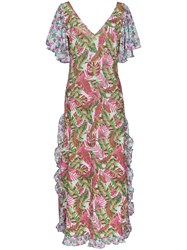 All Things Mochi Leandra Floral Maxi Dress Pink And Purple