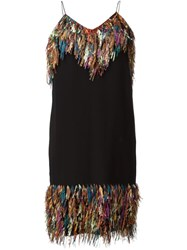 Marco De Vincenzo Multicolour Tassel Dress Black