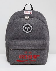 Hype X Coca Cola Backpack In Gray With Patches Gray