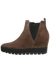 Gabor Wedge Boots Castagno Beige