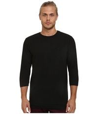 Publish Delmar Two Tone Thermal Long Sleeve Knit Black Men's Long Sleeve Pullover