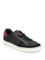 Original Penguin Rave Leather And Mesh Sneakers Black