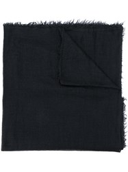 Rick Owens Frayed Edges Scarf Black