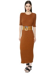 Nehera Cotton Blend Rib Knit Sweater Dress