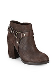 Ash Falcon Leather Harness Ankle Boots Brown