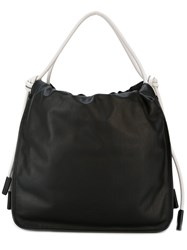 Marni Slouchy Bag Women Calf Leather Acrylic Nylon Polyurethane One Size Black