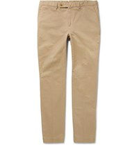 Hackett Kensington Slim Fit Brushed Stretch Cotton Twill Chinos Sand