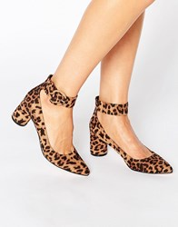Asos Sammy Pointed Heels Leopard Multi