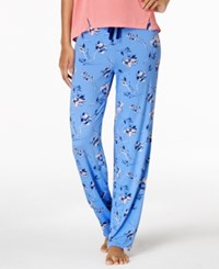Alfani Knit Printed Pajama Pants Created For Macy's Wind Floral