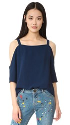 Cooper And Ella Zoe Cold Shoulder Top Navy