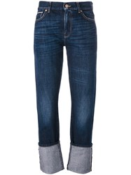 7 For All Mankind Rolled Hem Jeans Blue