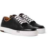 Berluti Playtime Polished Leather Sneakers Black