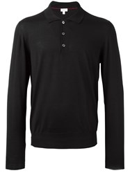 Brioni Long Sleeve Polo Shirt Black