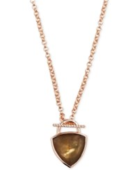 Vera Bradley Rose Gold Tone Mother Of Pearl Pendant Necklace