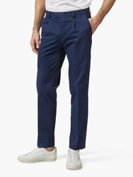 Richard James Mayfair Italian Cotton Tailored Suit Trousers Navy