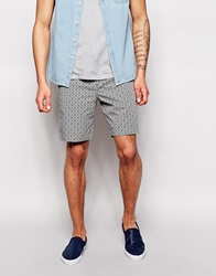 Ted Baker Shorts With All Over Floral Tile Print Blue