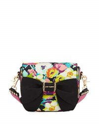 Betsey Johnson Oh Bow You Didn't Saddle Bag Multi Pattern