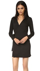 Lanston Wrap Mini Dress Black