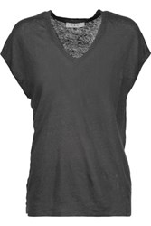 Iro Simza Linen T Shirt Dark Gray