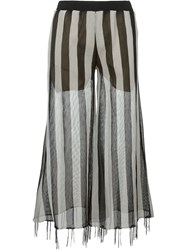 Aviu Aviu Striped Semi Sheer Palazzo Pants Black
