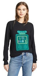 Michaela Buerger I Love Paris Big Perfume Bottle Sweater Black Multi