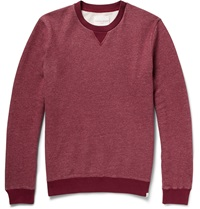 Derek Rose Dorset Fleece Back Brushed Cotton Jersey Sweatshirt Burgundy