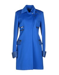 Versus Coats And Jackets Coats Women Bright Blue