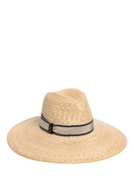 Borsalino Wide Brim Braided Straw Hat