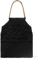 Ulla Johnson Kala Crocheted Cotton Tote Black