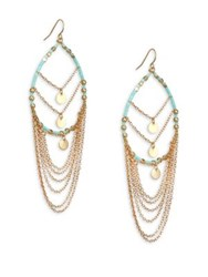 Ettika Seed Bead Wire Hoop Earrings 3 Turquoise